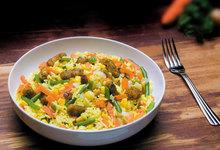 Πιλάφι με μπέικον και λαχανικά