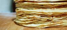 Πίτες τορτίγιας (tortillas) φύλλο