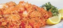 Γλώσσα ψάρι βραστή με ρύζι στο γουόκ