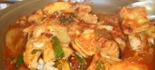 Ροφός ψάρι κρασάτος μικρός στο φούρνο
