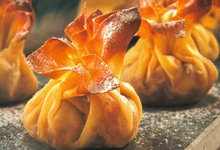 Πουγκιά βερύκοκου με φύλλο κρούστας