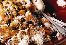 Περσικό ρύζι με αποξηραμένα φρούτα