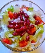 Νηστίσιμη πράσινη σαλάτα με φασόλια greek lenten green salad with beans