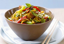 Λαχανικά με νούντλς