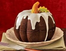 Κέικ για halloween σοκολάτας και κολοκύθας!