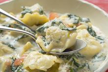 Πένες με λαχανικά και κρέμα γάλακτος από την χριστιάνα