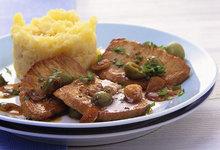 Χοιρινό φιλέτο με σάλτσα ελιάς