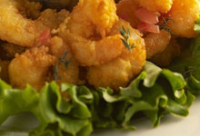 Τηγανιτές γαρίδες με πικάντικη κρούστα