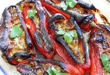 Πιπεριές γεμιστές με γαρίδες και τυρί