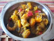 Γαριδες curry με κολοκυθα