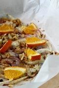 Ζεστή σαλάτα με φινόκιο, πορτοκάλι και κρεμμύδι!