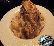 Κοτόπουλο με ρύζι και πατάτες στο φούρνο
