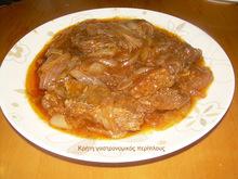Στιφάδο με κρέας (βοδινό ή μοσχάρι ή κοτόπουλο ή κουνέλι)
