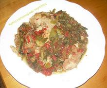 Κρέας με γιαχνόχορτα (γιαχνερά χόρτα)