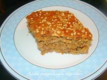 Σταφιδόπιτα με σουσάμι μέσα στη ζύμη