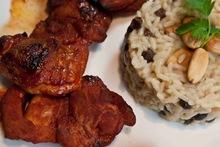 """μπουτάκια κοτόπουλου με πάπρικα """"γλυκοτσαχπίνικα"""" παρέα με αφροδισιακό πιλάφι"""