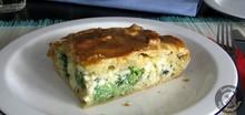 Σκεπαστή τάρτα με μπρόκολο, ρύζι και τυρί Ψωμί με προζύμι Τάρτα με σπανάκι κι άλλα λαχανικά Τάρτα με αβοκάντο και ντοματίνια
