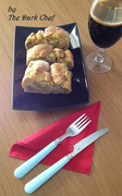 Ρολό ψωμιού καλαμποκιού γεμιστό με λάχανο, μπρόκολο και καλαμπόκι