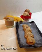 Μπισκότα με μπέικον και μπανάνα Bacon Banana Cookies (Μπέικον - μπανάνα, η τριλογία)