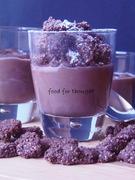 Σοκολατένια κρέμα κατσαρόλας με κραμπλ σοκολάτας