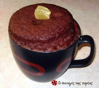 Ατομικό κέικ σοκολάτας σε 5 λεπτά