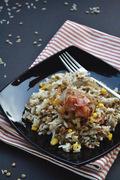 Φακόρυζο με μπέικον / Lentils & rice with bacon