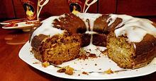 Κέικ Χωρίς Μίξερ με Σάλτσα Βανίλιας / Cake without mixer with vanilla sauce