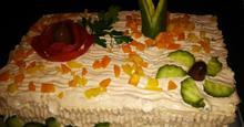 Αλμυρή τούρτα σαλάτα