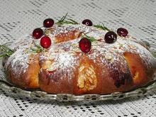 Γιορτινό ψωμί με cranberry αμύγδαλα και κανέλα