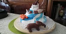 Sponge cake για τούρτες με ζαχαρόπαστα