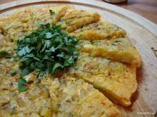 Ομελέτα με πατάτες – με κυβάκια πατάτας