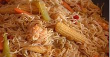 Noodles με γαρίδες