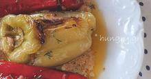 Πιπεριές στο Γκριλ Γεμιστές με Τυριά & Φέτα