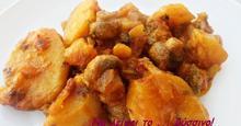 Πατάτες γιαχνί με μανιτάρια