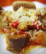 Μελιτζάνες με ξινόχοντρο - Οι συνταγές της Άννας