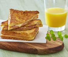 French toast ham and cheese