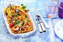 Παέγια (Paella) ισπανική με θαλασσινά