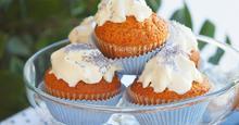 Cupcakes με Γλάσο Τυριού