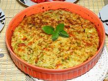 Τάρτα με ρύζι κολοκυθάκια και τυριά