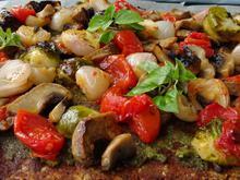 Νηστίσιμη τάρτα με ξηρούς καρπούς και λαχανικά