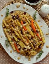 Κινόα με ψητή παστινάκη κ σος από ταχίνι