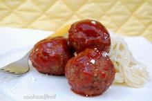 γλυκόξινοι κεφτέδες/Sweet And Sour Meatballs