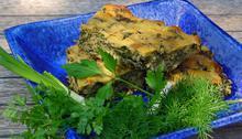 Χορτόψωμο (Πίτα χωρίς φύλλο με Κρεμμυδάκια, Καλαμποκάλευρο και Αρωματικά)