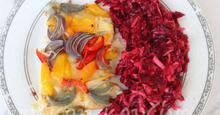 Πέρκα φιλέτο με λαχανικά στη λαδόκολλα