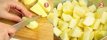 Φιλέτα Γλώσσας με κρέμα γάλακτος και καραμελωμένες πατάτες