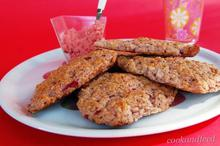 scones με φράουλες και φραουλένιο βούτυρο/Strawberry Scones With Strawberry Butter