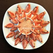 Γαρίδες με ροζ σάλτσα κάρυ