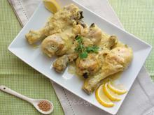 Κοπανάκια κοτόπουλου με γιαούρτι, σιναπόσπορο & limoncello