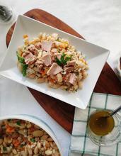 Φασόλια με κριθάρι & τόνο