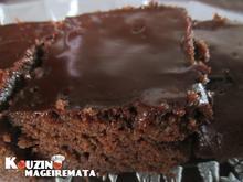 Σοκολατόπιτα σιροπιαστή με σοκολατένιο γλάσο